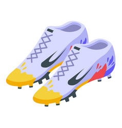 Football footwear icon isometric style vector