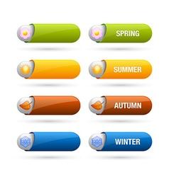 Four season buttons vector image