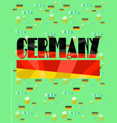 Germany map country infographics vector