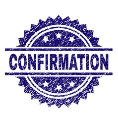 Grunge textured confirmation stamp seal vector