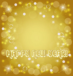 happy new year golden background vector image