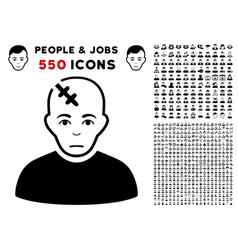head hurt icon with bonus vector image