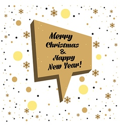 Holiday Christmas card vector