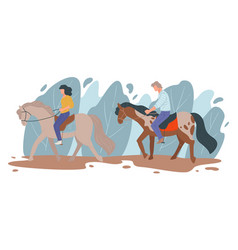 Horse racing people leading active lifestyle vector