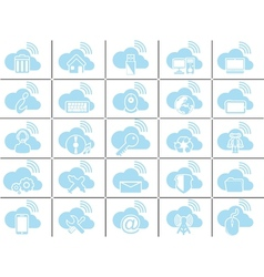 ICONS CLOUD COMPUTING BLUE vector