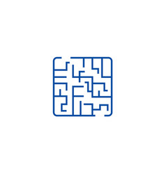 labyrinth line icon concept labyrinth flat vector image