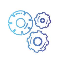 line gear industry engineering process vector image