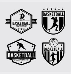 logo badges baseball vector image