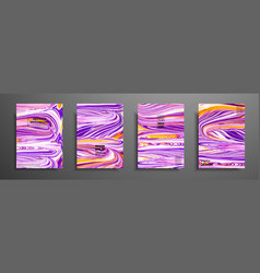 Mixture of acrylic paints modern artwork trendy vector
