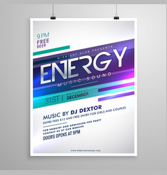 modern creative music flyer template design vector image