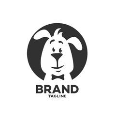 Modern pet clever dog logo vector