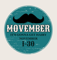 Moustaches movember poster round or circle vector