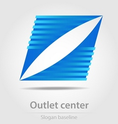 Originally designed outlet center business icon vector image