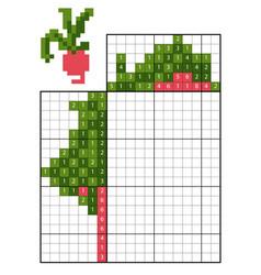 paint number puzzle nonogram radishes vector image
