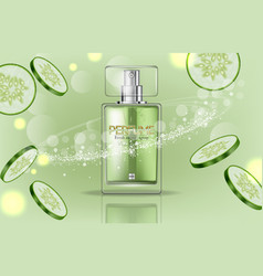 perfume bottle realistic product packaging vector image