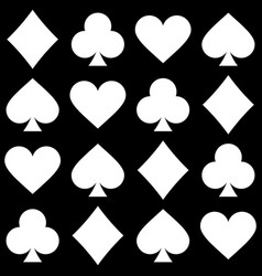 playing card seamless pattern vector image