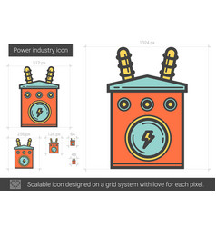 Power industry line icon vector