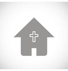 Protestant church black icon vector