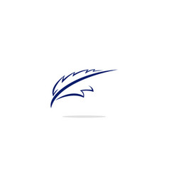 quill pen writing logo vector image