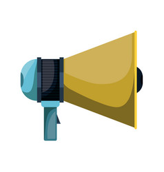 Realistic colorful silhouette of megaphone icon vector