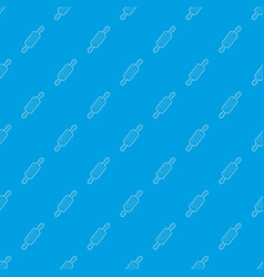 rolling pin pattern seamless blue vector image