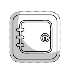 safe box money isolated icon vector image