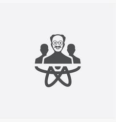 Scientist group icon vector
