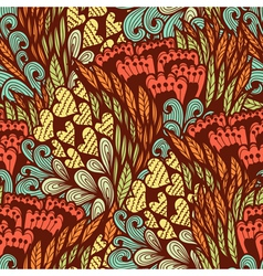 Seamless hand drawn doodle pattern vector image