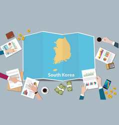 south korea country growth nation team discuss vector image