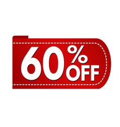 special offer 60 off banner design vector image