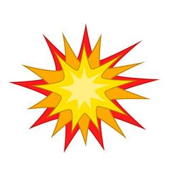 Starburst icon cartoon style vector