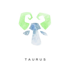 taurus zodiac sign part of zodiacal system vector image