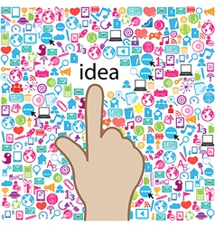 Template design idea at Social network light vector