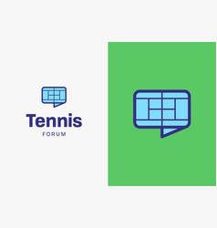 tennis-court-logo-icon vector image