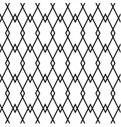 tile black and white monoline pattern for seamless vector image