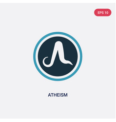 Two color atheism icon from religion concept vector