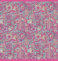 vintage floral and abstract carpet motif vector image