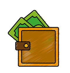 wallet accessory design vector image