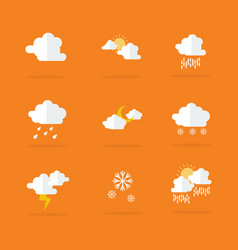 Weather set icon flat vector