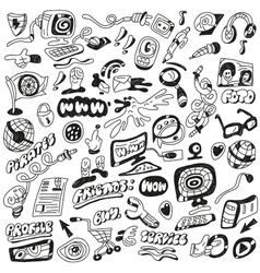 Web doodles vector