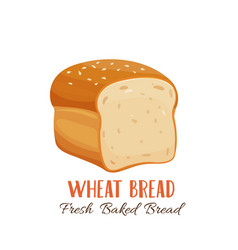Wheat bread icon vector
