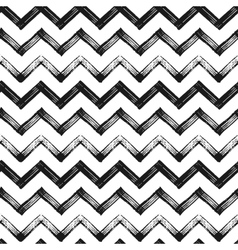 Zigzag chevron grunge black pattern background vector image