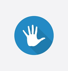 Arm flat blue simple icon with long shadow vector