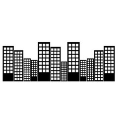 city skyline buildings icon image vector image vector image