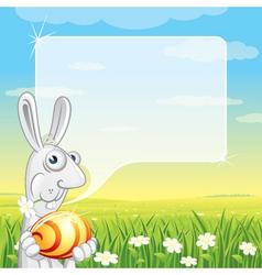 easter bunny speech vector image