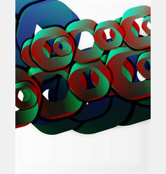 geometric abstract background cut chain shapes or vector image