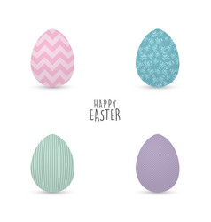 happy easter day vector image vector image