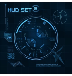 HUD and GUI set Futuristic User Interface vector image