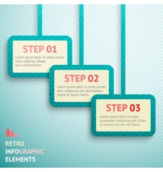 Retro paper infographic option banners vector image