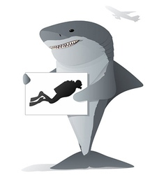 Shark Sign vector image